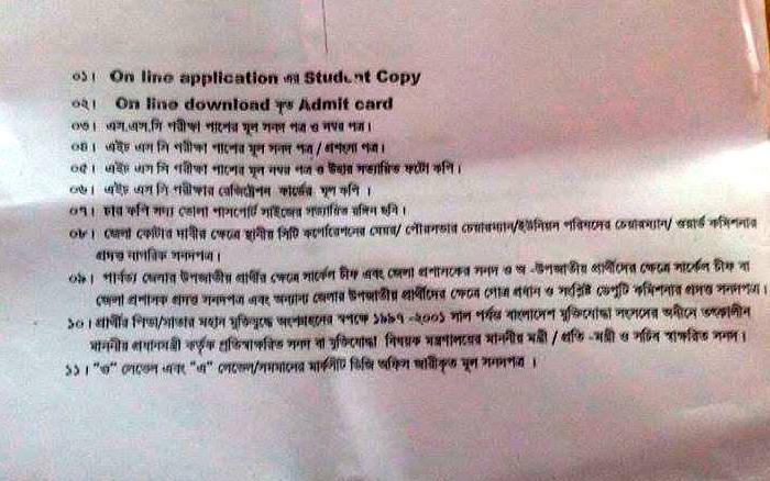 admission notice..